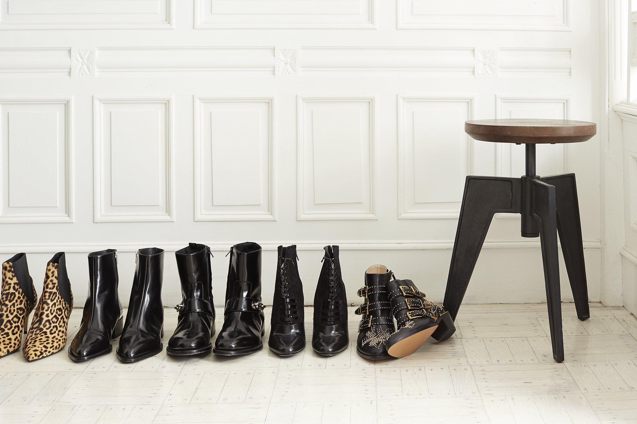 netjes rijtje schoenen